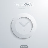 Clock face 3d vector illlustraion. Stock Image