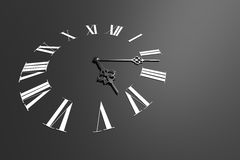 Clock face on dark gray background Stock Image