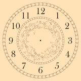 Clock face decorated with doodle flowers Stock Image