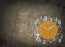 Clock face with figures Royalty Free Stock Photo