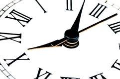 Clock face with focus on center. Time concept Stock Photos
