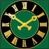 Clock_face_green Royalty Free Stock Images