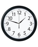 Clock face isolated. Vector illustration Stock Images