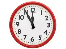 Clock face isolated Royalty Free Stock Image