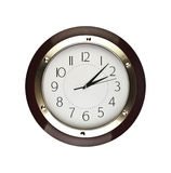 Clock face isolated on white background - time concept Royalty Free Stock Photo