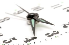 Clock face macro Royalty Free Stock Images