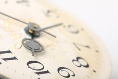 Clock face, macro Stock Image