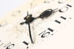 Clock face, macro Stock Images