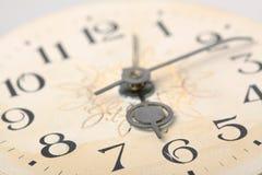 Clock face, macro. Clock face, hands of the clock, macro Stock Photos