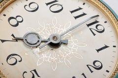 Clock face, macro Royalty Free Stock Photos