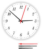 Clock Face Modern Royalty Free Stock Images