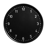 Clock face with no hands. Black office clock face with no hands isolated on white background royalty free stock photo
