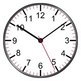 Clock face with numbers illustration second minute hour hands. A clock face with numbers illustration second minute hour hands stock illustration