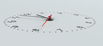 Clock face perspective view Royalty Free Stock Photo