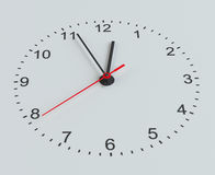 Clock face. Perspective view. Isolated on grey background. 3D illustration Royalty Free Stock Image
