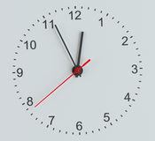Clock face. Perspective view Royalty Free Stock Photography