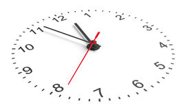 Clock face. Perspective view Royalty Free Stock Photo