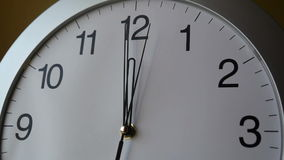 Classic Clock Face Close Up Full HD Stock Footage stock video footage