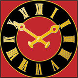 Clock_face_red illustration libre de droits