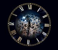 Clock face with roman numbers Stock Image