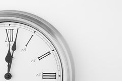 Clock Face Showing After Midnight Royalty Free Stock Image