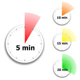 Clock face stopwatch pattern Royalty Free Stock Images