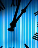 Clock face with stripe pattern Stock Images