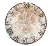 Clock Face Table. Painted Roman Numerals clock face on table. The glass hands show time is flying, like a blur Royalty Free Stock Images