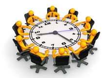 Clock Conference Table Royalty Free Stock Image