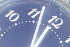 Clock face taken closeup.Eve of new year. Toned image Stock Photography
