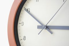 Clock face - Ten to Three Royalty Free Stock Photo