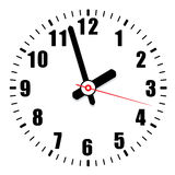 Vector clock face Stock Image
