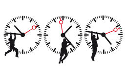 Clock face and time icons Royalty Free Stock Photography