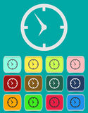 Clock face - Vector icon isolated. With color variations Royalty Free Stock Photos