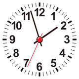 Clock face. Vector illustration Stock Photo
