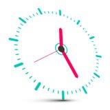 Clock Face Vector Illustration stock illustration