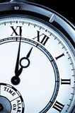 Clock face, watch closeup Stock Images