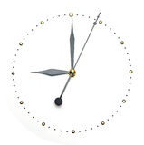 Clock face on white background - time concept Royalty Free Stock Images