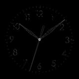 Clock face. Wire-frame render Stock Images