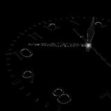 Clock face. Wire-frame render Royalty Free Stock Image