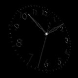 Clock face. Wire-frame render Royalty Free Stock Photo