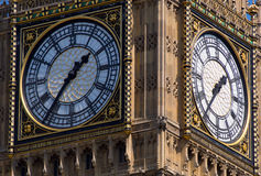 Clock Faces of Big Ben Tower London Stock Images
