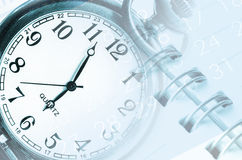Clock faces, calendars. Royalty Free Stock Images