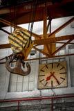 Clock in a factory Stock Photos