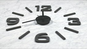 Clock Fast Time Lapse Moving Forward stock video footage