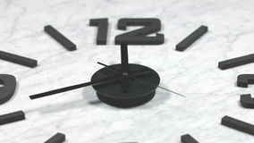Clock Fast Time Lapse Moving Forward Zoomed stock footage