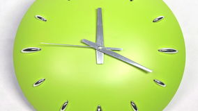 Clock Fast Time Zoomed Moving Forward High Speed stock footage