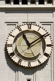 Clock in the ferry building Royalty Free Stock Photo