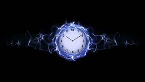 Clock in Fibers, Time Concept, Computer Graphics stock images