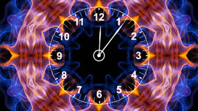 Clock in Fibers, Time Concept, Computer Graphics Stock Photography